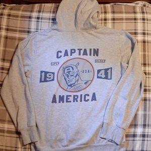Marvel Captain America Full Zip Graphic Hoodie